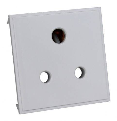 Varilight DRP5AW DataGrid White 5A 3 Round Pin Socket (2 DataGrid Spaces)